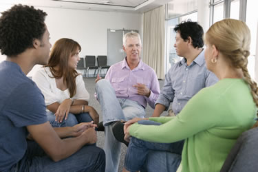 Addiction therapy group
